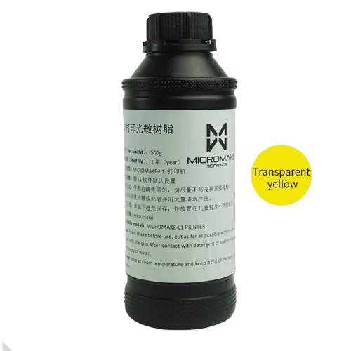 Zivica / Resin Micromake umyvatelna s vodou UV zlta - 500ml